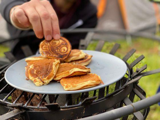 campfire pancakes yum