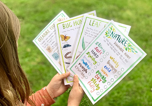 Nature Scavenger Hunt Cards